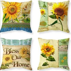 Home Sunflower Pillow Covers